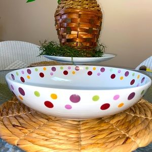 Pampered Chef Simple Additions Dots Large Bowl